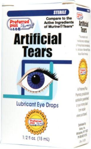 Preferred Plus Pharmacy Artificial Tears Lubricant Eye Drops - 15ml