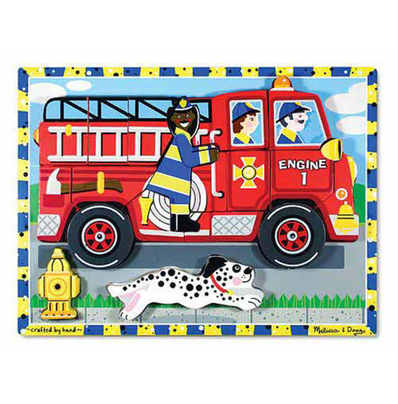 Melissa and Doug Deluxe Fire Truck Chunky Puzzle
