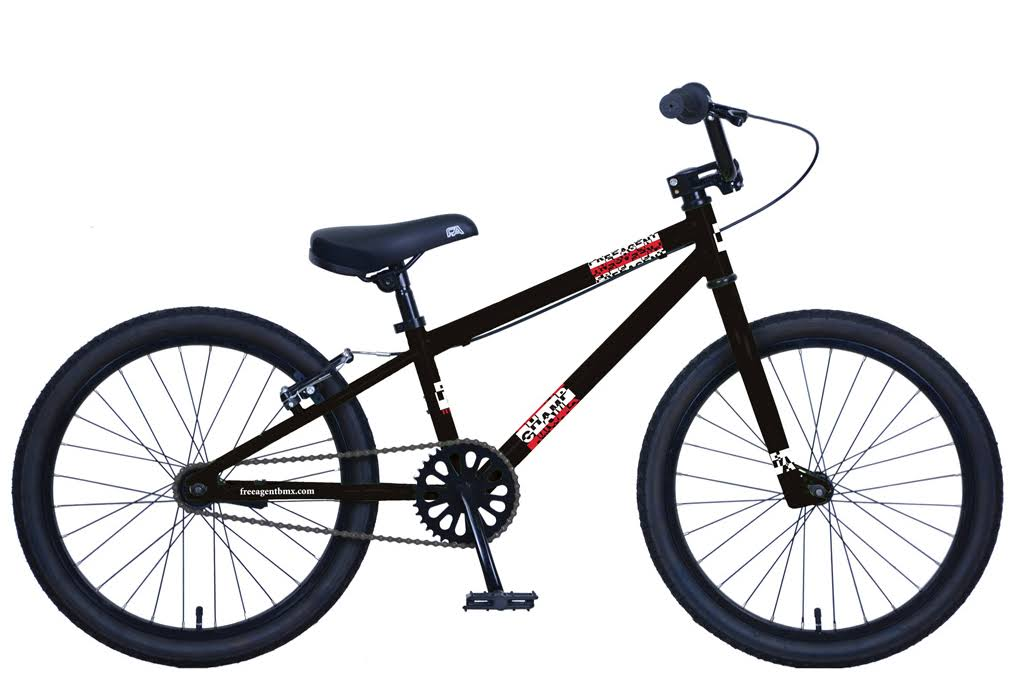 Free Agent Champ BMX Bike Black 2019