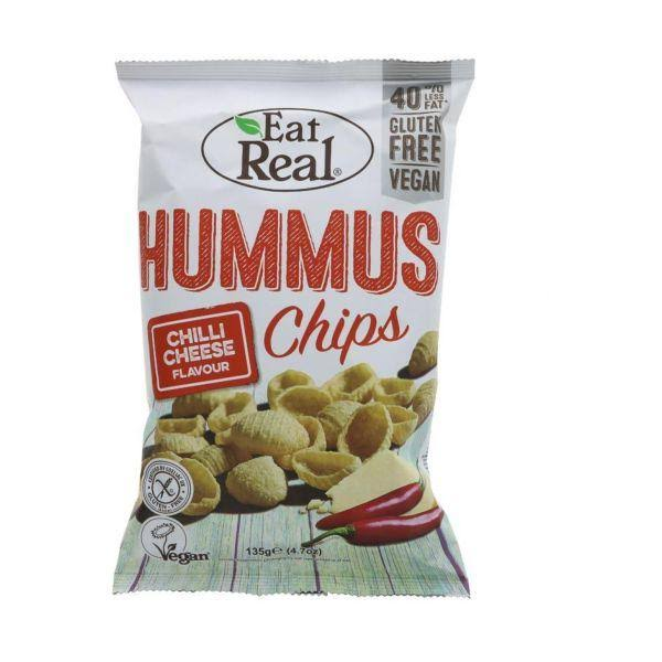 Eat Real Hummus Chips - Chilli Cheese, 135g