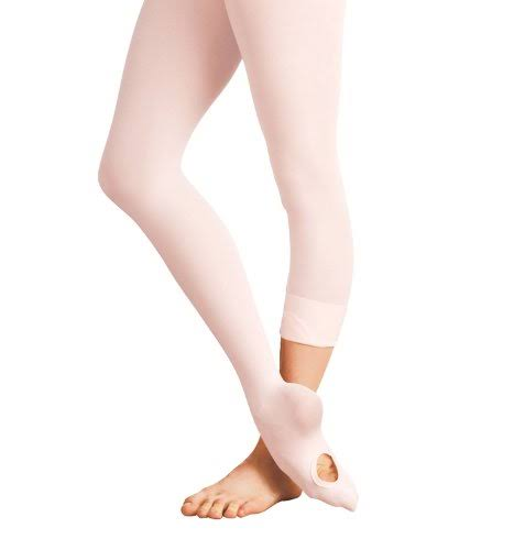 Body Wrappers A31 Adult Convertible Tights S-M / Theatrical Pink