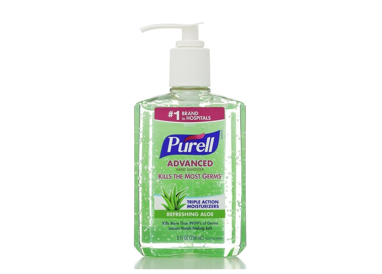 Purell Instant Hand Sanitizer - with Aloe, 8oz