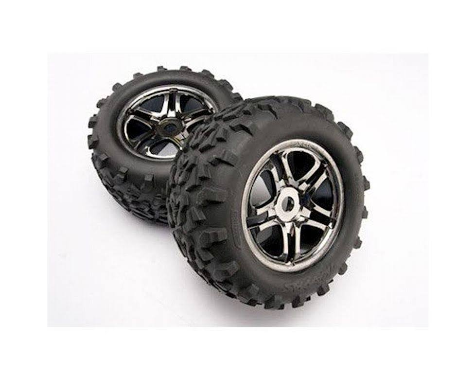 Traxxas E Maxx 4983A Tire Wheels - Black Chrome, Maxx 17mm, 2pc