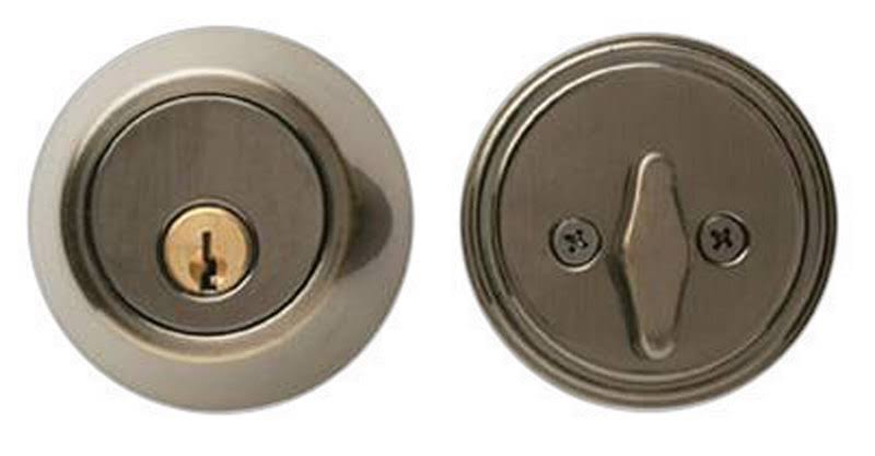 "Ace Single Cylinder Deadbolt - Antique Brass, 2-3/8"" Or 2-3/4"""