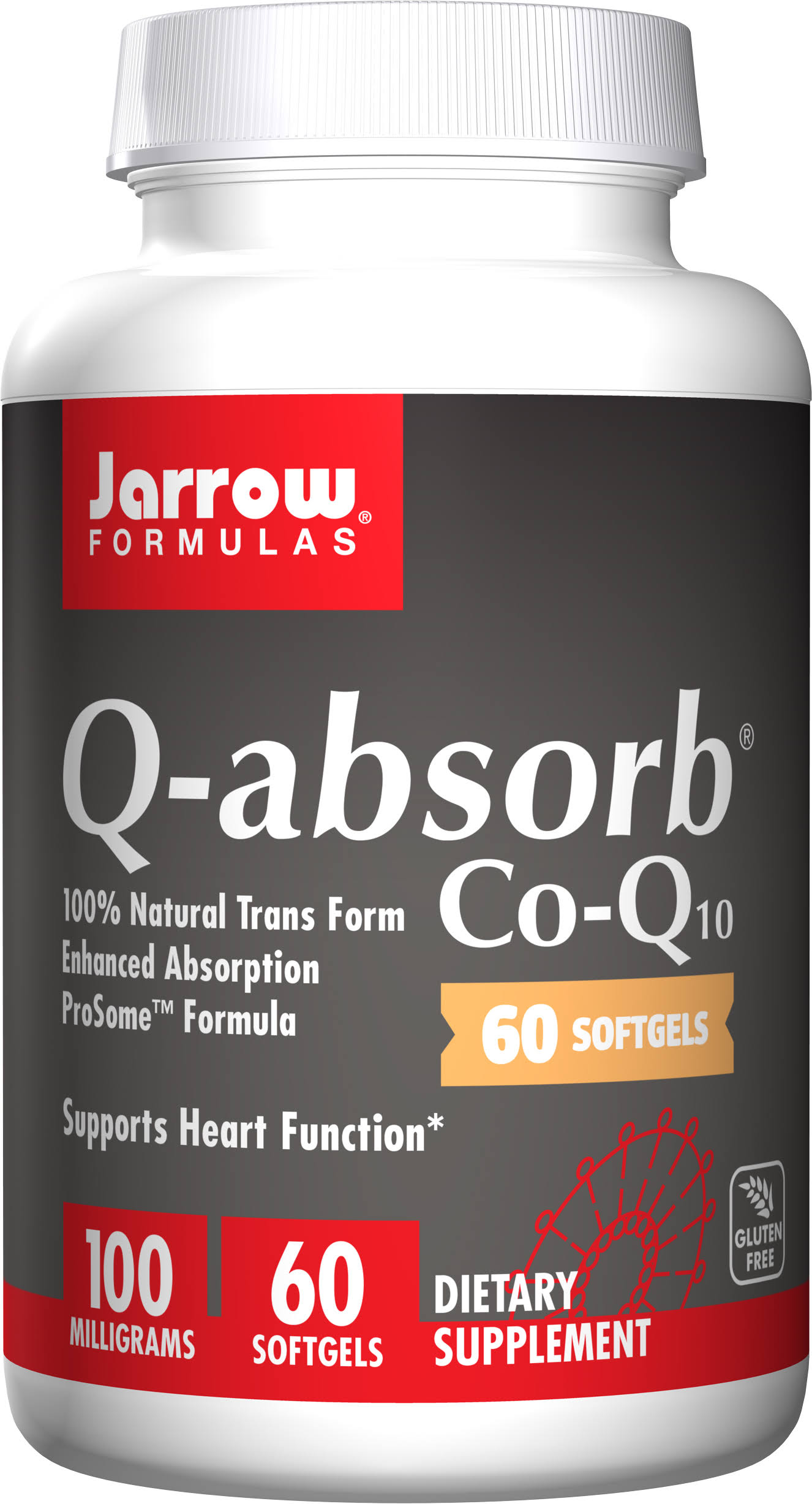 Jarrow Formulas Q-Absorb Co-Q10 - 100mg, 60ct