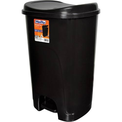 Hefty Step-On Trash Can - Black