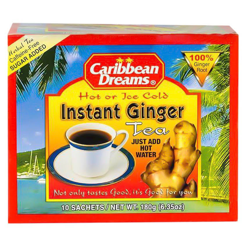 Caribbean Dreams Instant Ginger Tea - 10 Sachets