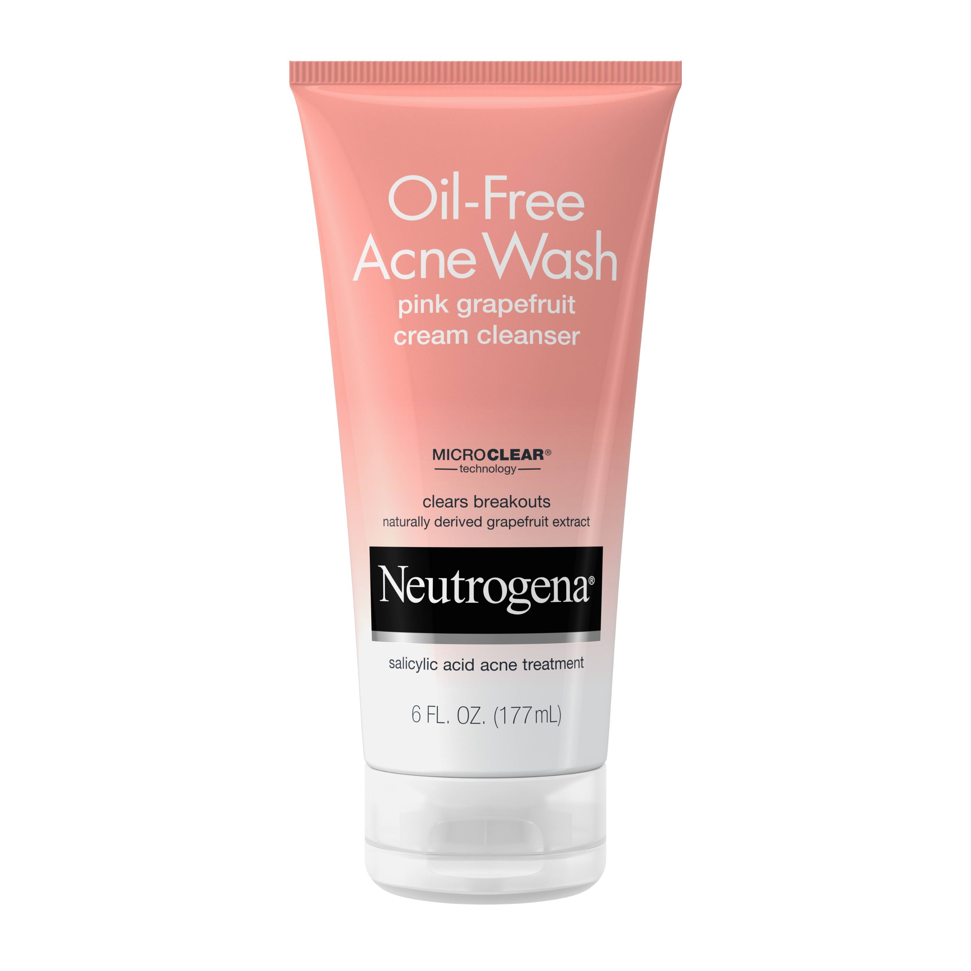 Neutrogena Oil Free Acne Wash Cream Cleanser - Pink Grapefruit, 6oz