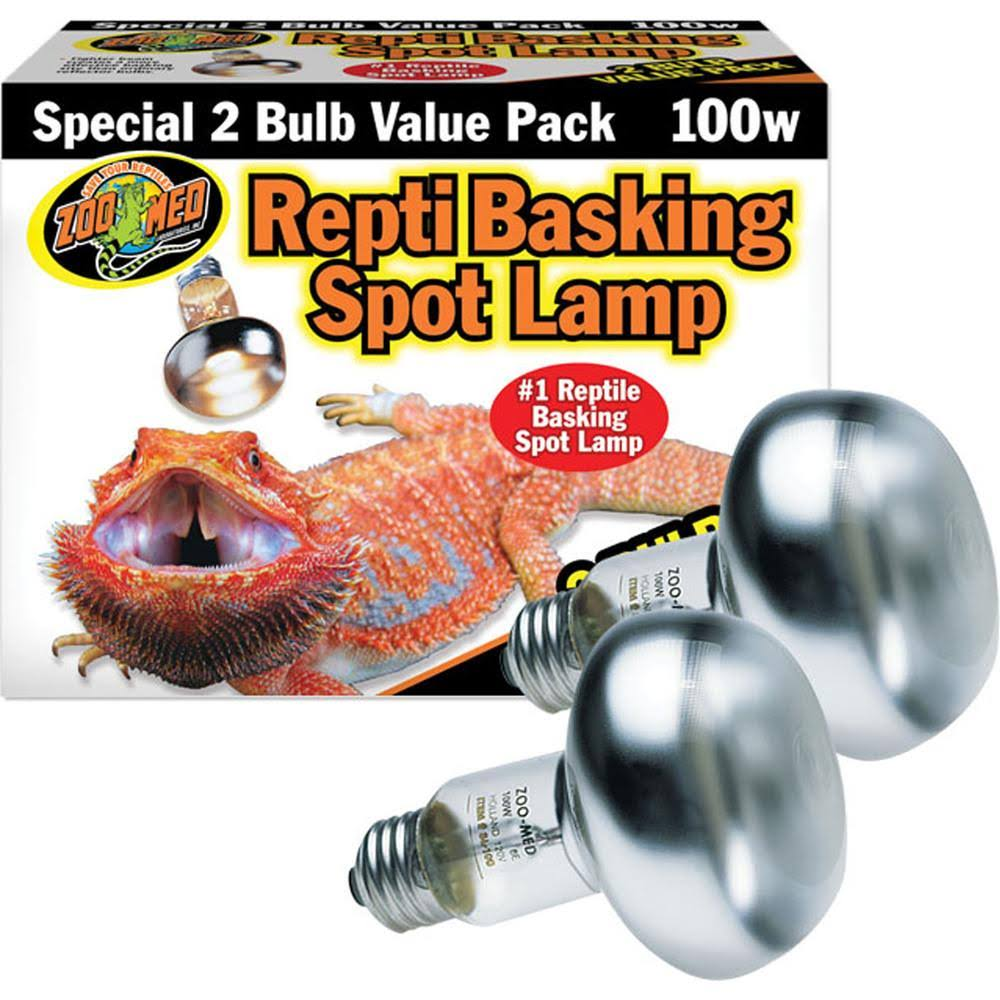 Zoo Med Reptile Basking Spot Lamp - 100W, 2 Pack