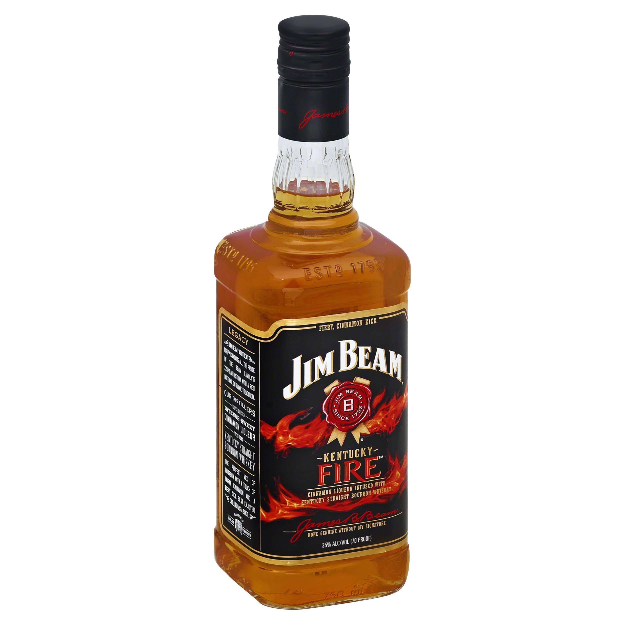 Jim Beam Kentucky Fire Bourbon - 750ml