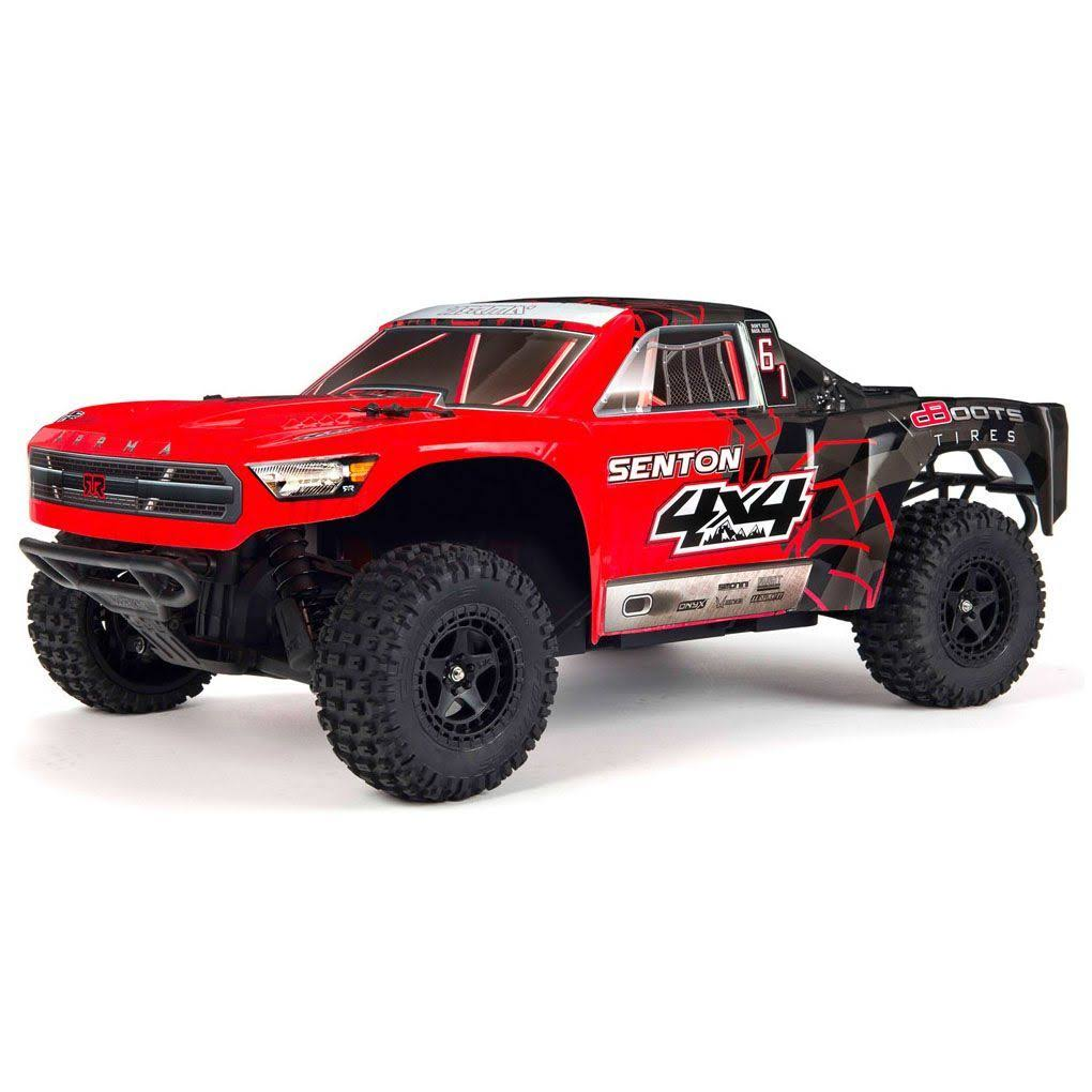 Arrma Senton (V2) 4x4 Mega 1/10 Short Course Truck RTR (Red/Black)