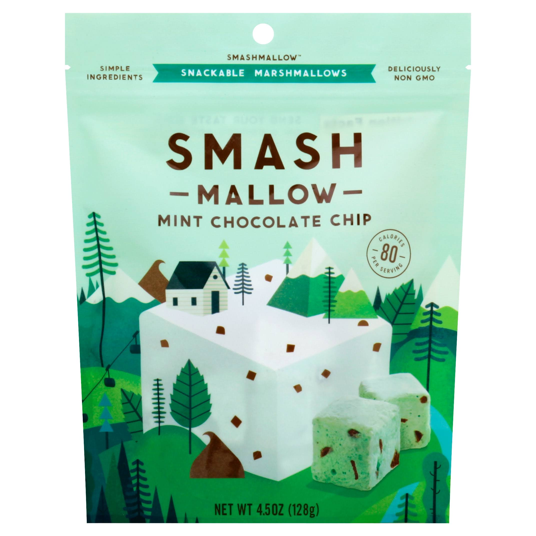 Smash Mallow Snackable Marshmallow - Mint Chocolate Chip, 128g