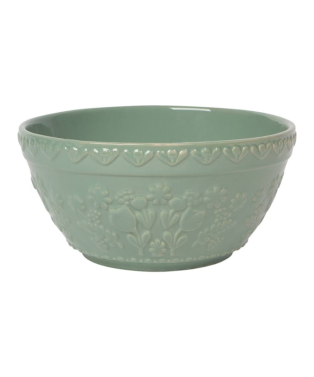Now Designs Mixing Bowls - 8'' Green Embossed Mixing Bowl