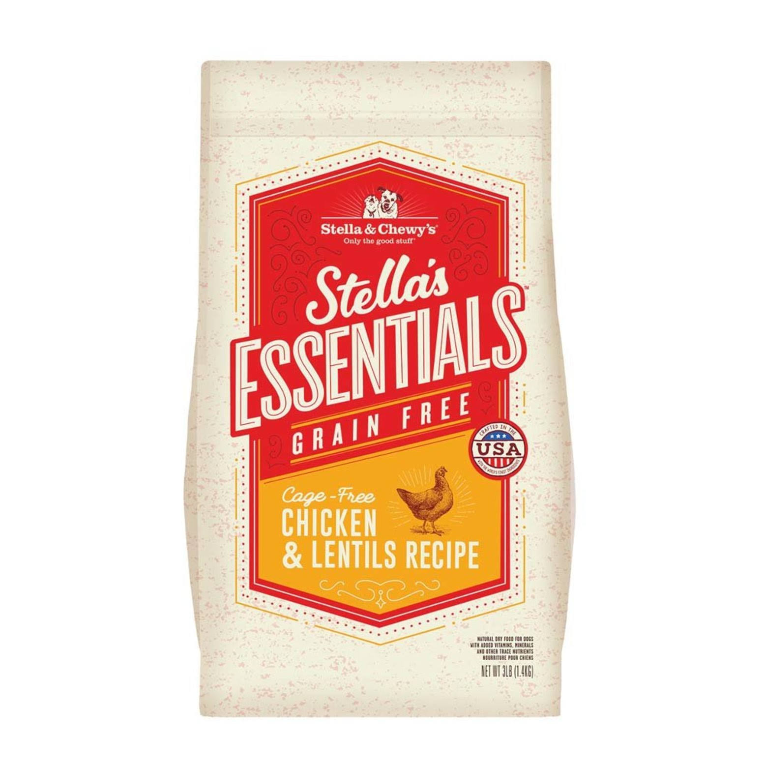 Stella & Chewy's Essentials Grain-Free Cage-Free Chicken & Lentils Recipe Dry Dog Food 25lb