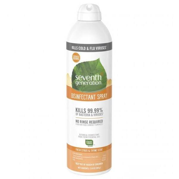 Seventh Generation Disinfectant Spray - Fresh Citrus/Thyme, 13.9 oz