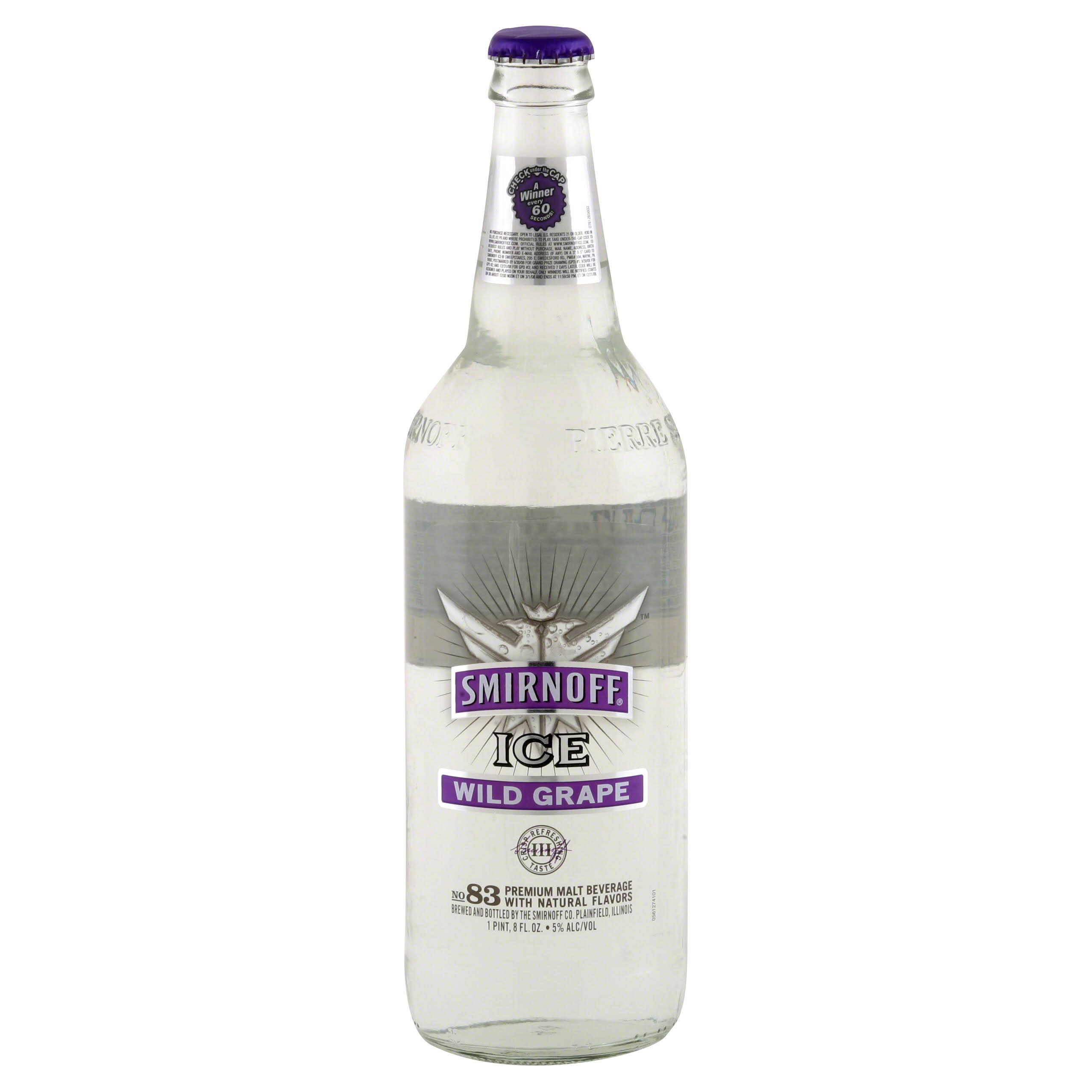 Smirnoff Ice Malt Beverage, Premium, Wild Grape - 24 oz