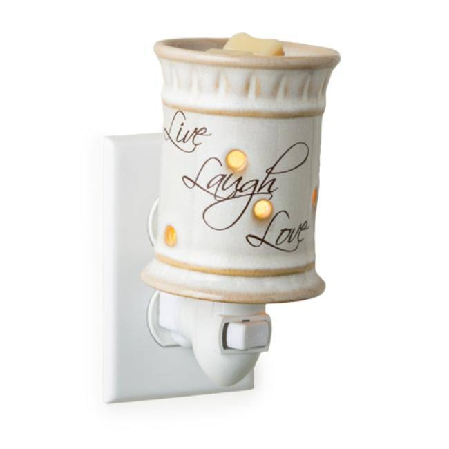 "Candle Warmers Pluggable Fragrance Warmer - ""Live, Laugh and Love"""