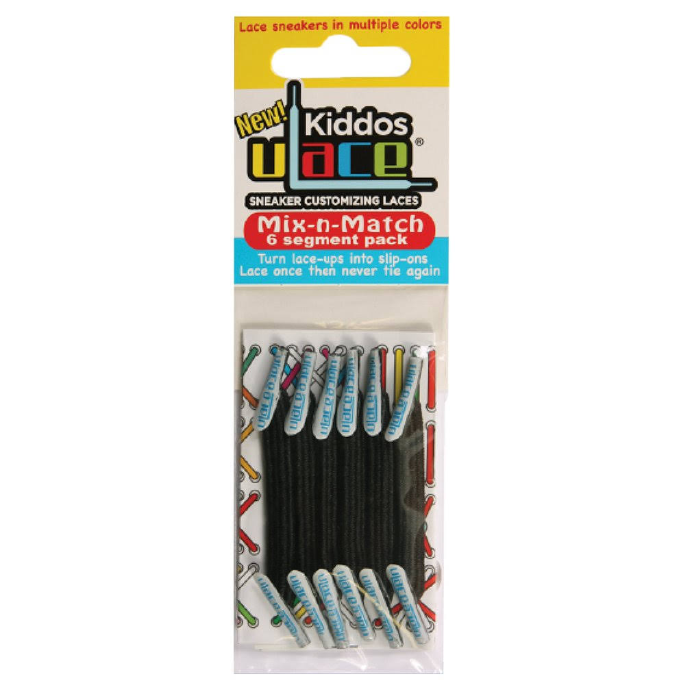 U Lace Kiddos Mix N Match - Black