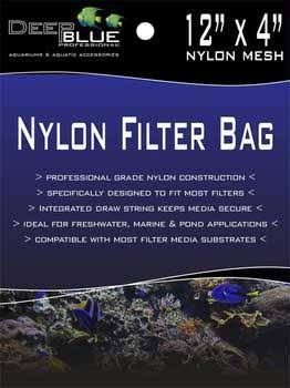 "Deep Blue Nylon Filter Media Bag - 4"" x 12"""