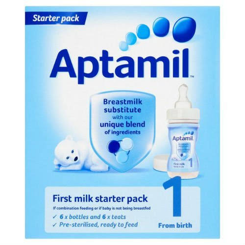 Aptamil 1 First Baby Milk Formula Starter Pack - x6, 1620ml