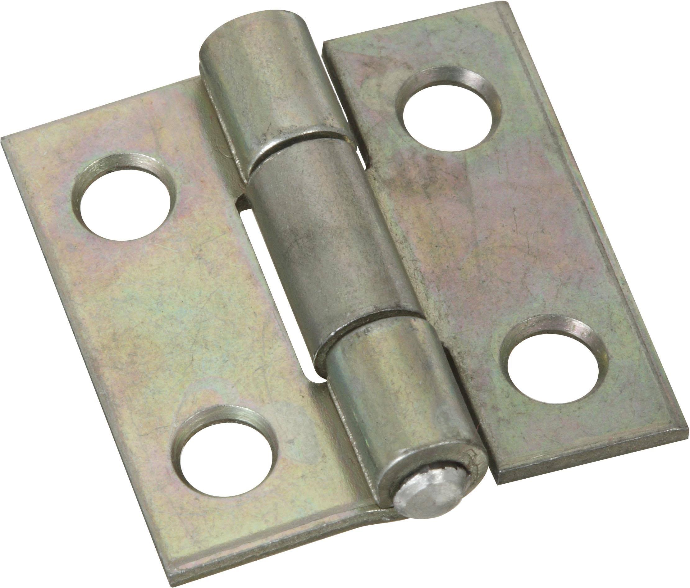 National Hardware Non-Removable Pin Hinge - Zinc Plated, 1""