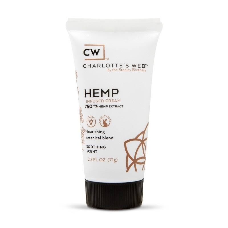 Charlottes Web Infused Cream, Hemp, Soothing Scent - 2.5 oz