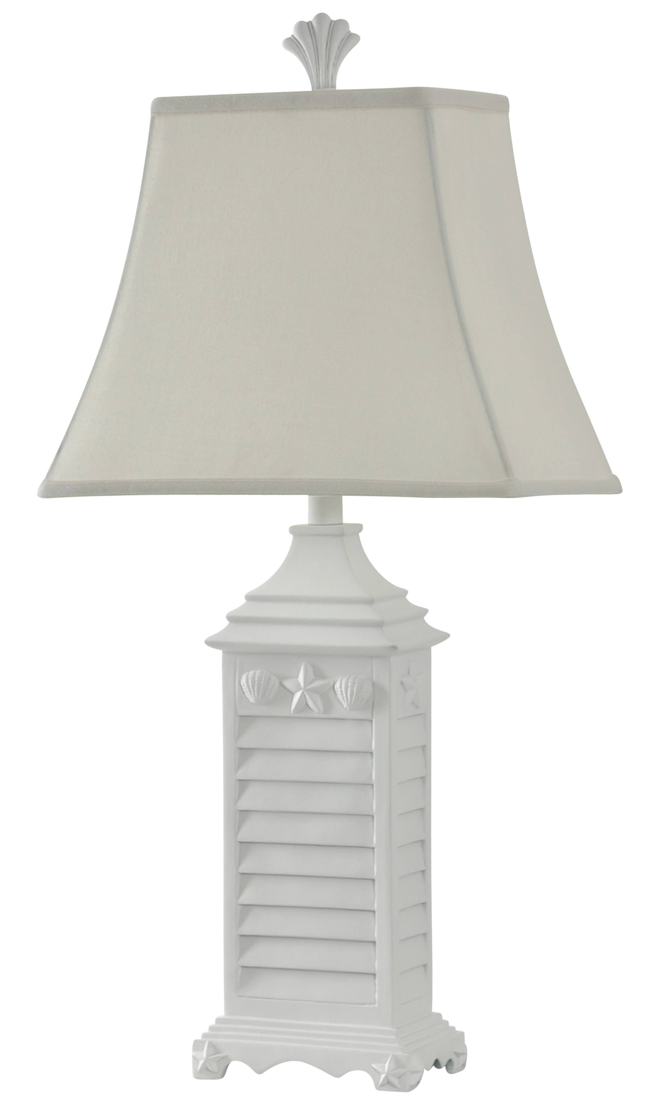 Gwg Outlet Table Lamp in White of Monterey Finish L32382DS
