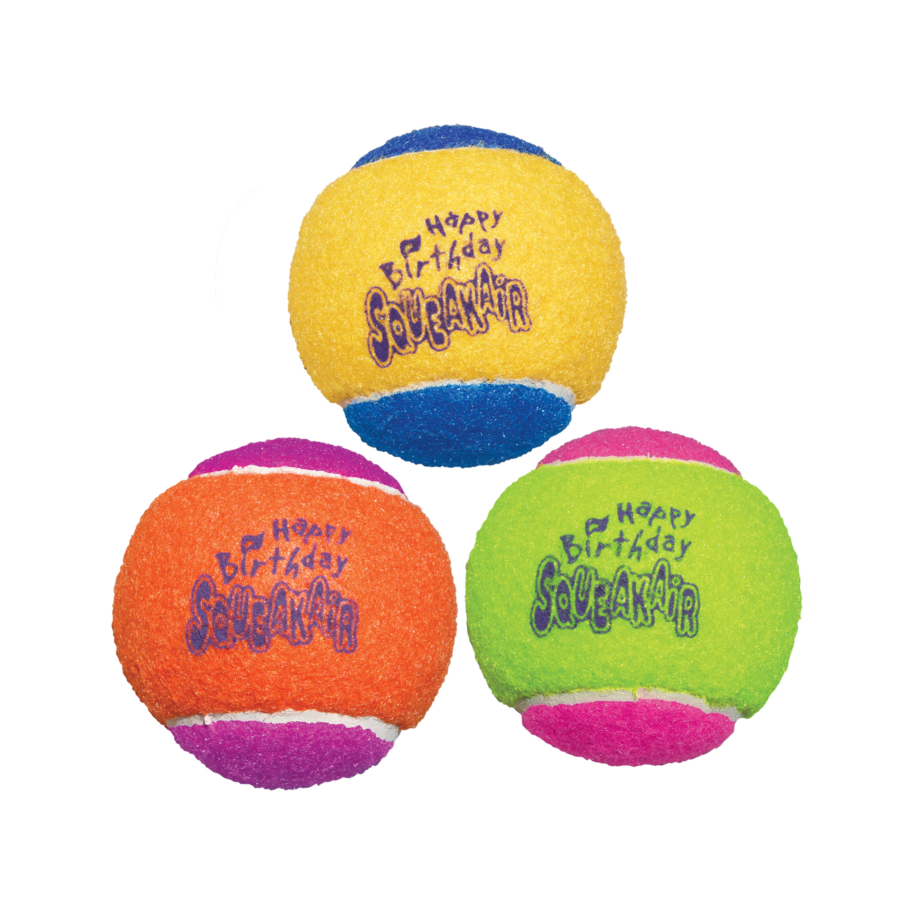 Kong Air Dog Squeakair Birthday Balls Dog Toy - Medium, 3 Balls