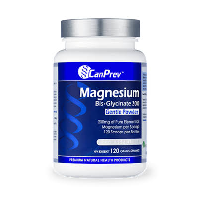 CanPrev Magnesium Bis-Glycinate Powder Supplement - 120g