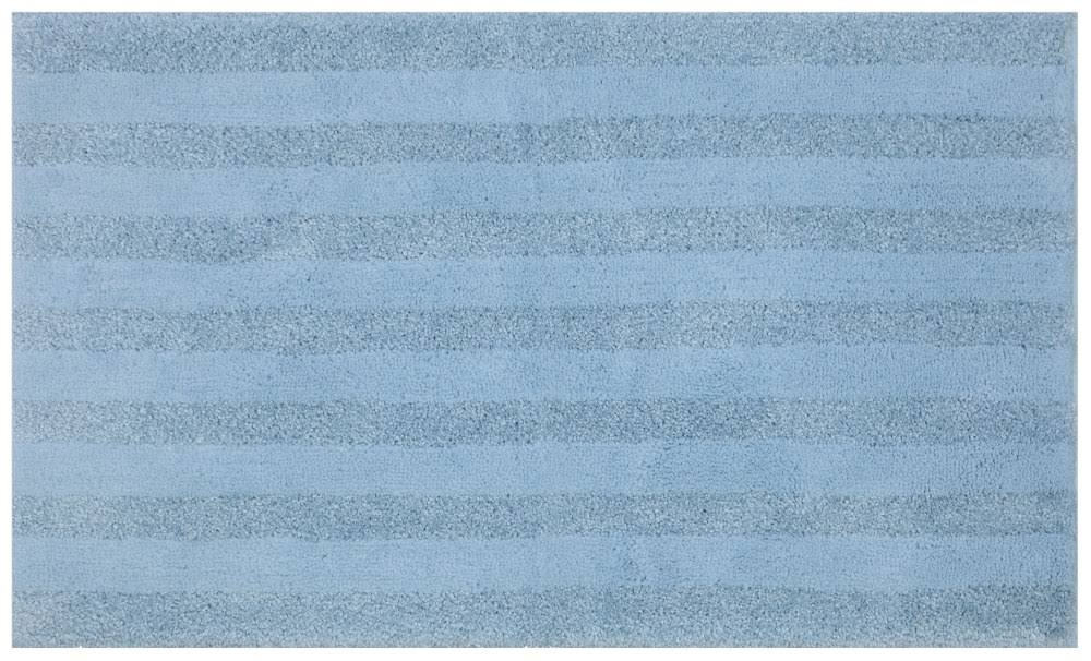 Mohawk Basic Stripe Bath Rug Forget Me Not Blue