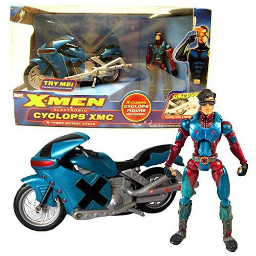 X-Men Toybiz Year 2005 Marvel Electronic 8 inch Long Action Vehicle Set - Cyclop