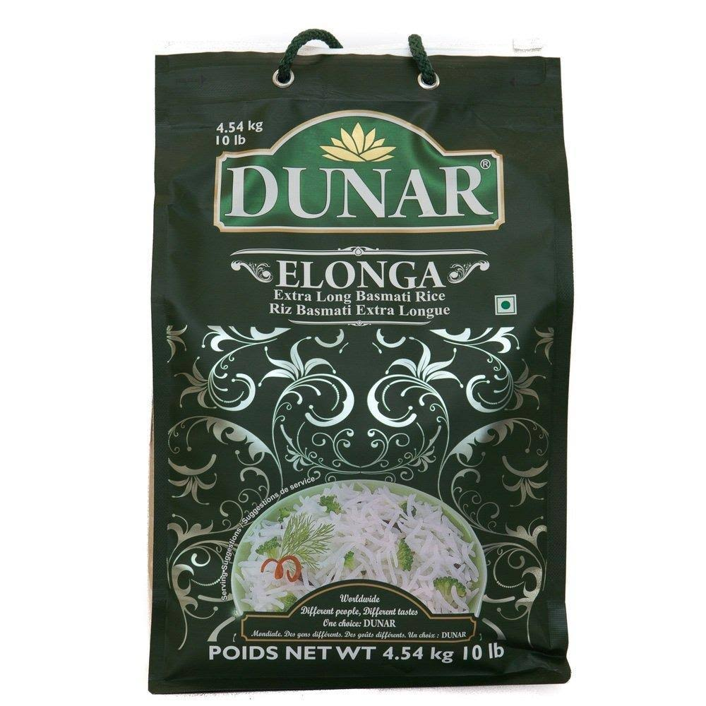Dunar Extra Long Basmati Rice - 10 LB