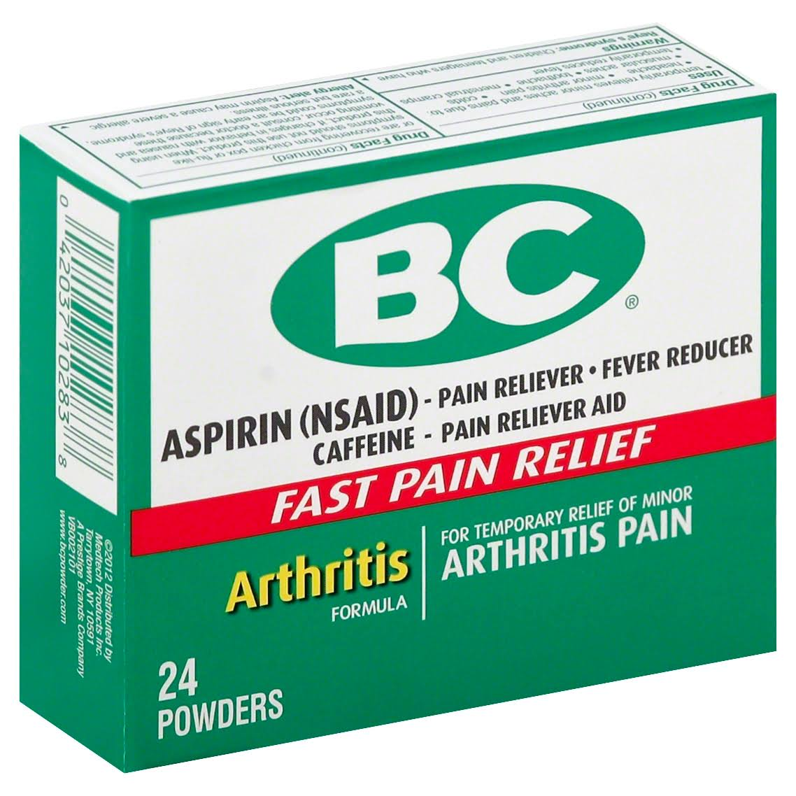 BC Arthritis Formula Pain Reliever Powders - 24ct