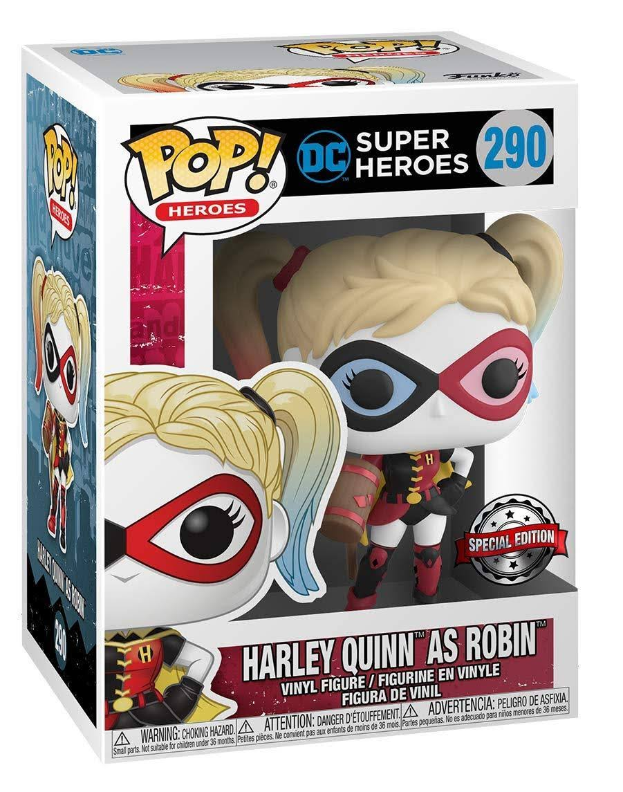 Funko Pop! DC Super Heroes Vinyl Figure - #290 Harley Quinn as Robin