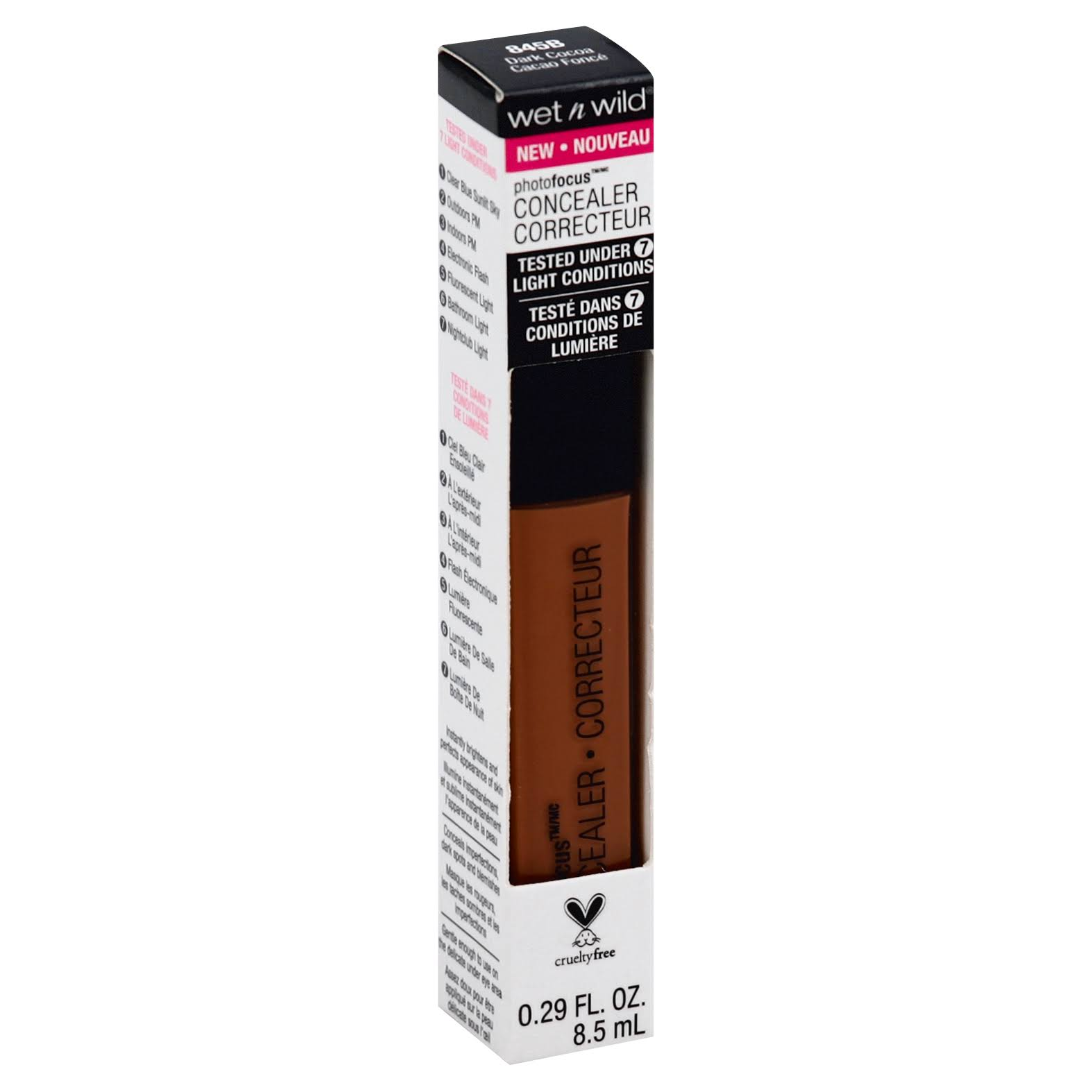 Wet n Wild Photo Focus Concealer - 845B Dark Cocoa, 0.29oz