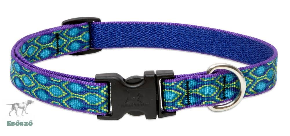 "LupinePet Originals Adjustable Dog Collar - Rain Song, 3/4"" X 9"" to 14"""