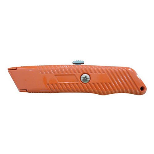 "Master Mechanic High Visibility Retractable Blade Utility Knife - 5.8"", Orange"