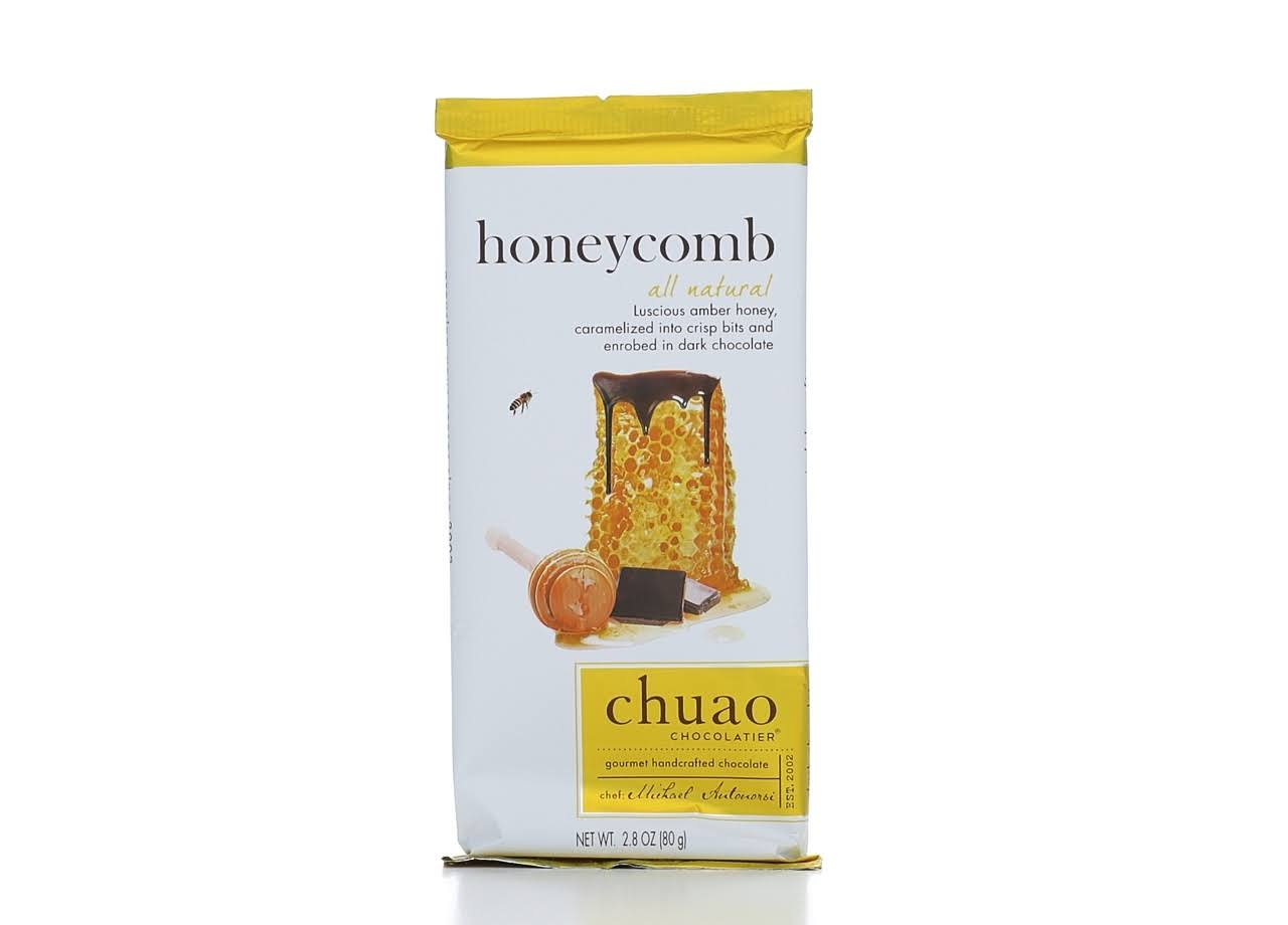 Chuao Chocolatier All Natural Dark Chocolate Bar - Honeycomb, 2.8oz