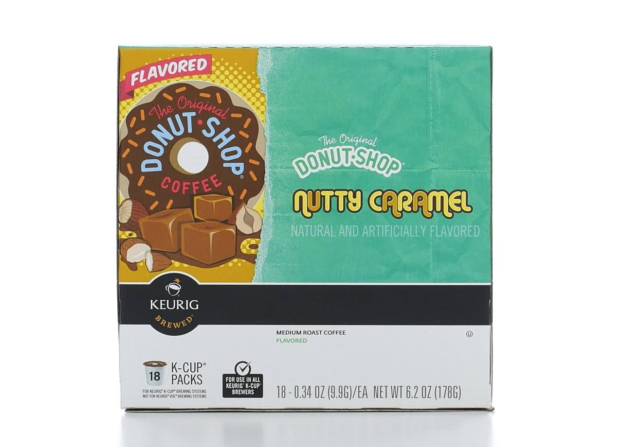 Keurig Hot The Original Donut Shop Nutty Caramel Medium Roast Coffee - 0.34oz, 18ct
