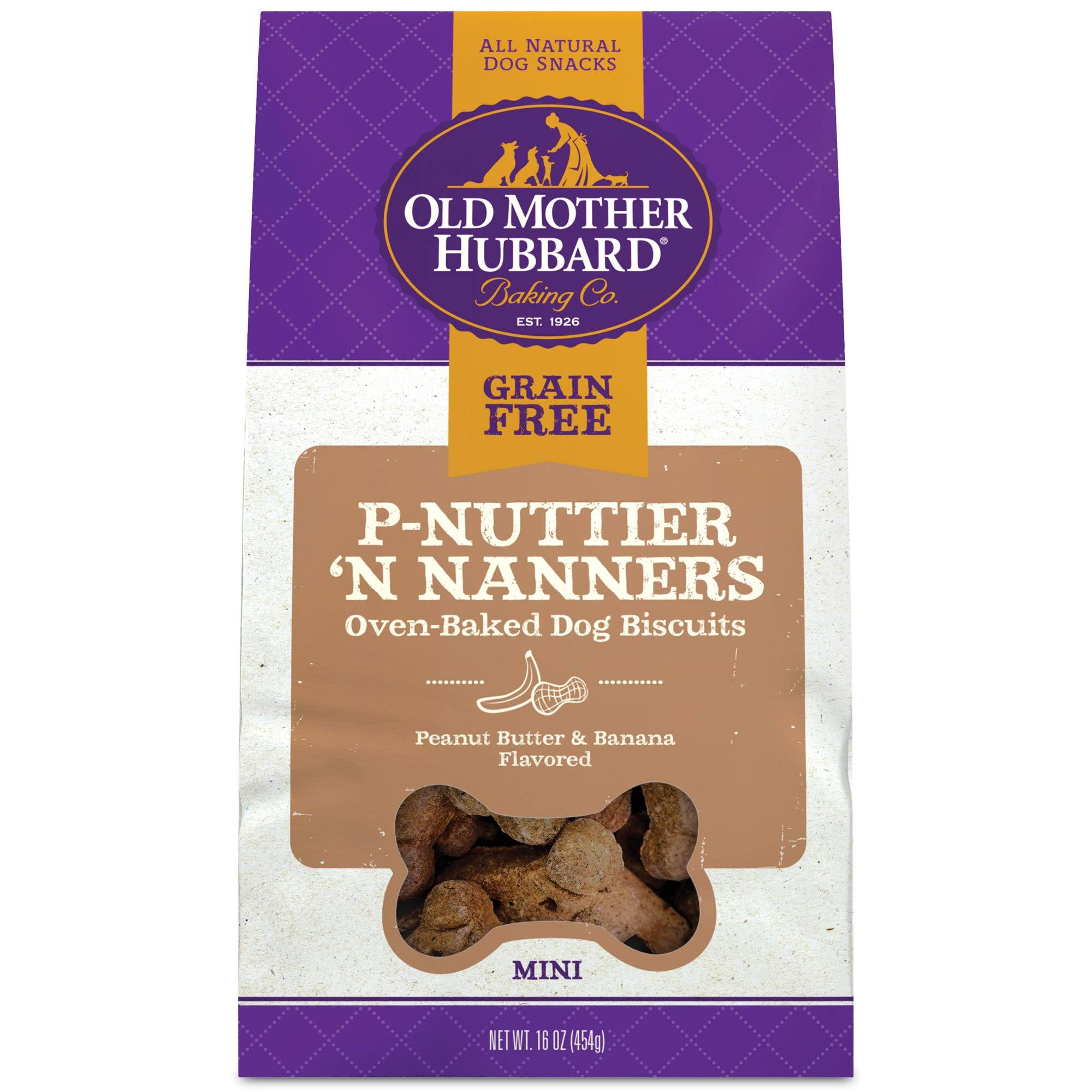 Old Mother Hubbard Grain Free P-Nuttier 'n' Nanners 16 oz Dog Treats