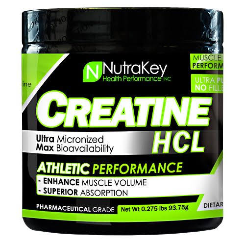 NutraKey Creatine HCL Dietary Supplement - Unflavored, 125 Scoops