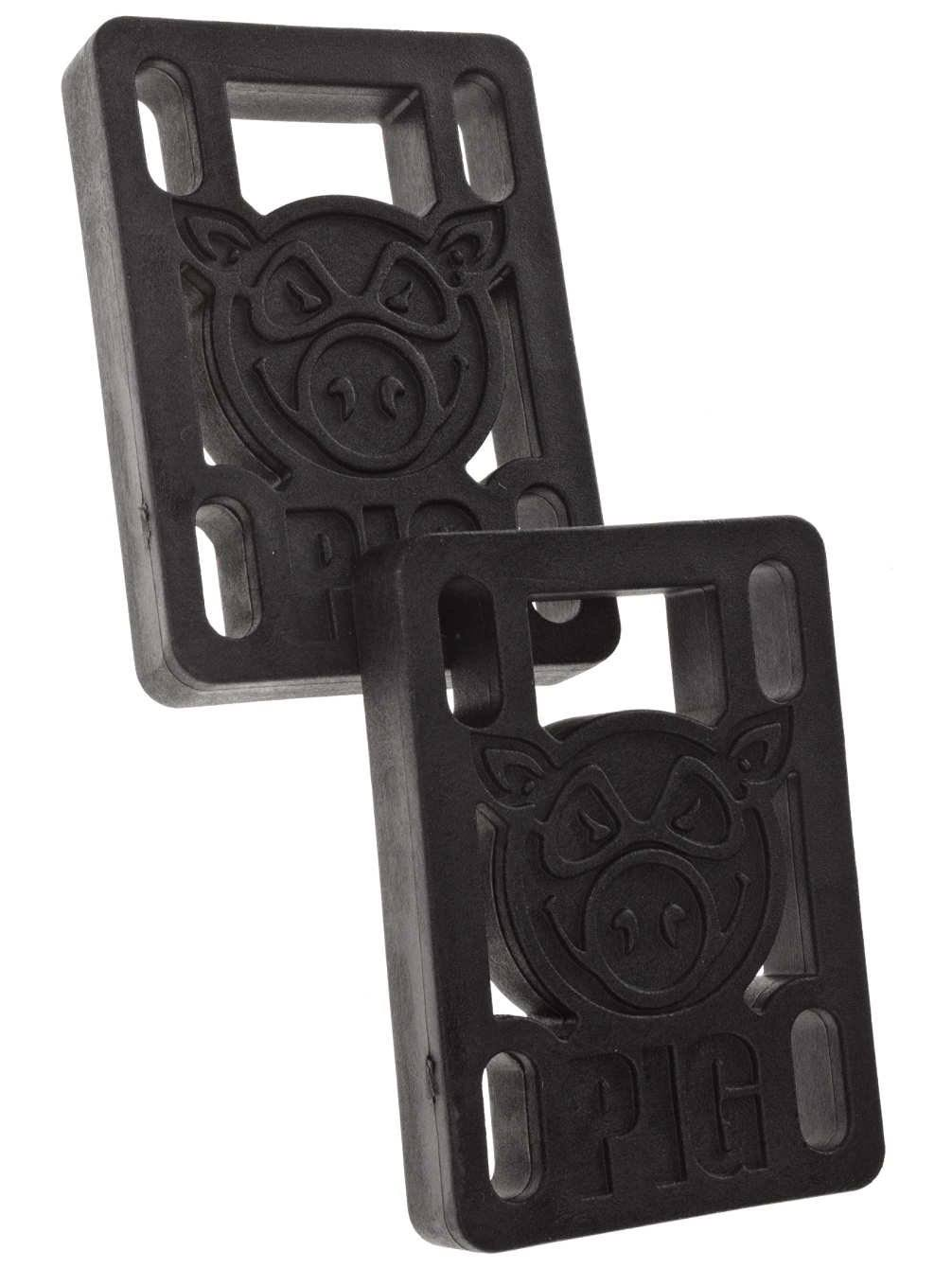 Pig Skateboard Risers 1/2' Black (Pair)
