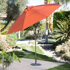 Sears Canada Patio Umbrella by Coral Coast 9 Ft Spun Poly Push Button Tilt Wind Resistant Patio