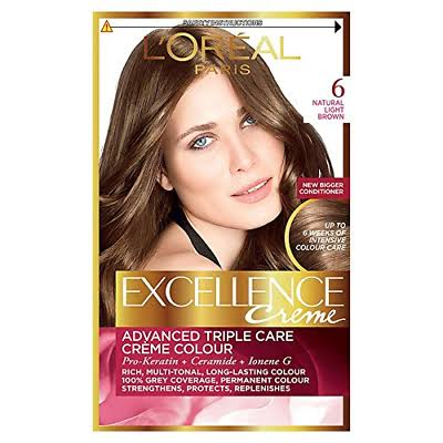 L'Oreal Excellence Creme 6 Natural Light Brown Hair Colour
