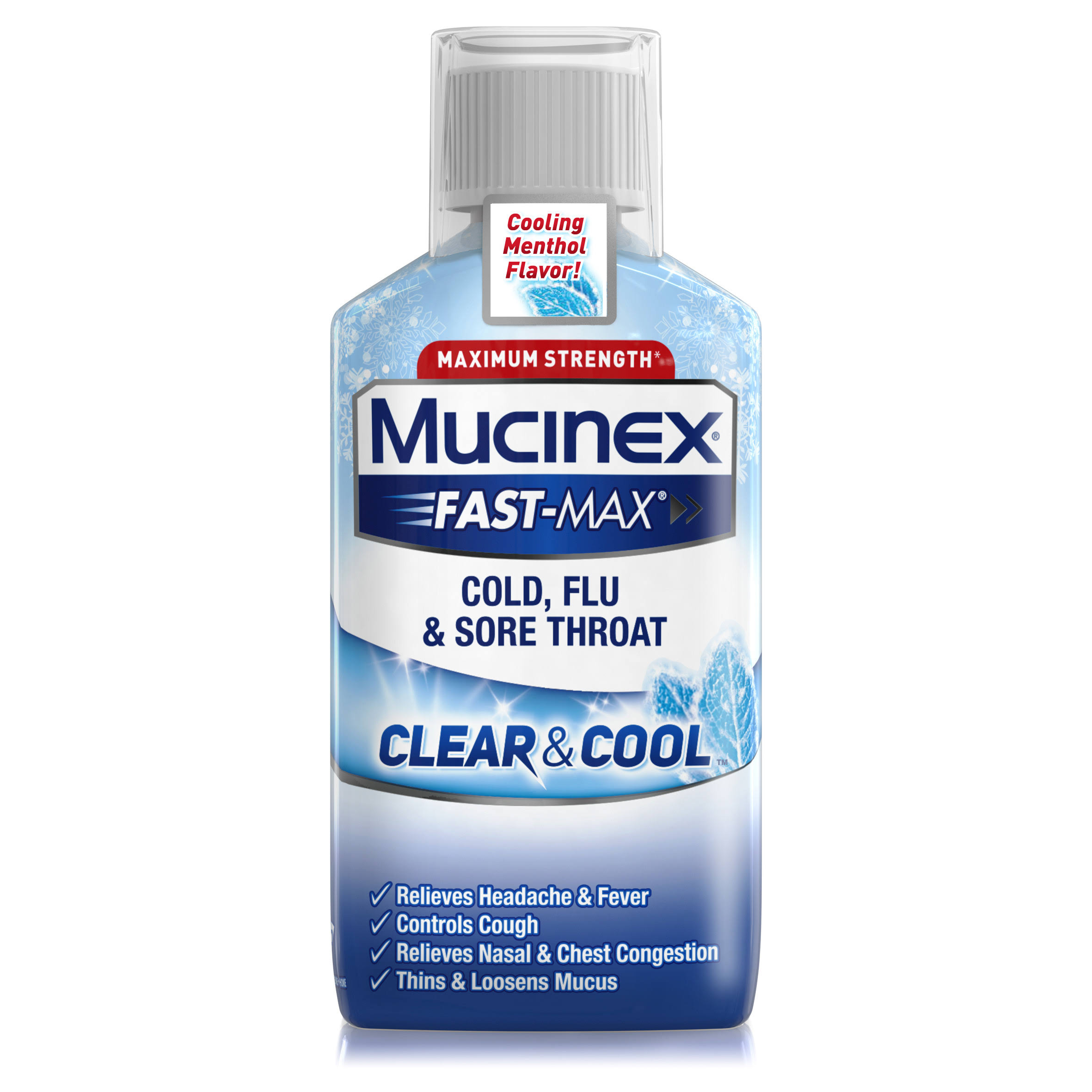 Mucinex Fast-max Clear & Cool Throat Liquid - 6oz