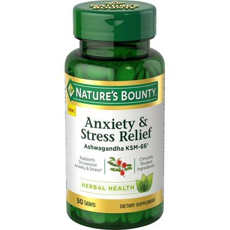 Natures Bounty Anxiety/Stress Relief, Herbal Health, Tablets - 50 tablets