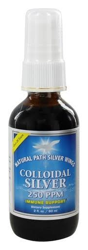 Natural Path Silver Wings Colloidal Silver Dietary Supplement - 80ml