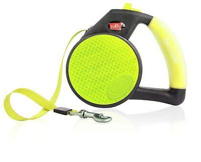 Wigzi Retractable Reflective Gel Leash - Yellow