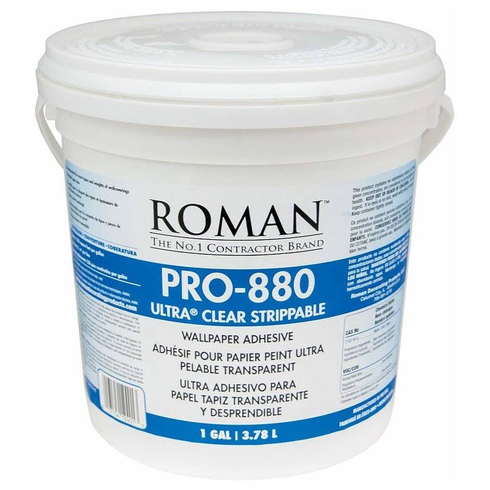 Roman Pro-880 Ultra Clear Wallpaper Adhesive - 1 Gallon