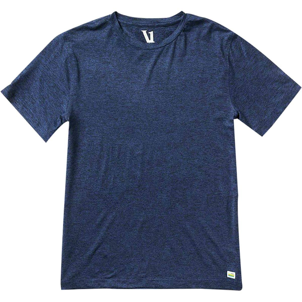 Vuori Men's Strato Tech Yoga T-shirt - Navy Heather Blue, X-Large